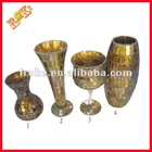 gold colored rose glass vases wholesale factory