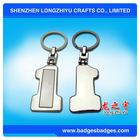 No.1 key chains with digital Stainless steel key hook