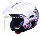 motorbike open face helmet