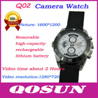 New design Removable Battery and memory card, hidden HD 1280*720 hiden camera watch