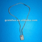 Plastic hang tag string