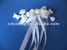 bride hair flower