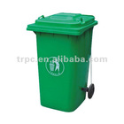 240L recycled rubbish bin in virgin plastic material with EN840 Certification