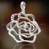 2012 NEW brass or sterling silver 925 rose flower designer pendant