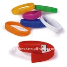 1GB-32GB Wrist Band USB Flash Drive Free Logo
