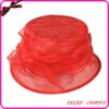 2012 New Design Red Sinamy Wedding Hat