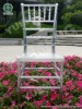 Transparent plastic chiavari chair