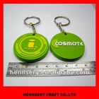 3D soft pvc customized double sied key chain
