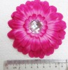 beauty head flower with Arcylic stone