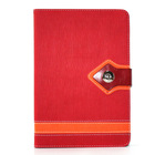 Toothpick Pattern Folio Stand Leather Case for iPad mini Red