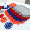2012 New Design Laser Engraving Felt Placemats with Coaster