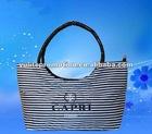 White/black strip Fashion PVC souvenir bag