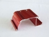 aluminum extrusion profile with red anodized surface