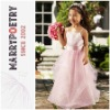 MF1113 Spaghetti Strap Sash Sleeveless Cheap Cinderella Dress For Girls