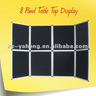 Supply Black exhibition folding panel,aluminum frame and MDF/PP sheet panels