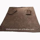 Cozy Fleece Blanket with Sleeves