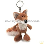 2012 new hot plush fox keychain