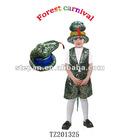 TZ201325 kids snake costume