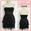 Black Lace Prom Dress W64