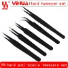 Superhard senior anti-static tweezers tip the elbow flat head package 3/4/5