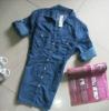 lady/women dark blue blue denim blouse