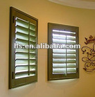 weatherproof acoustic wood grain plantation shutter louvers