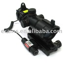Trumpet shell green and red dot sight with windage and elevation adjust mechanism and mini red laser scope combo
