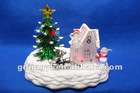 LED acrylic christmas house group for indoor decoration