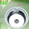 Round stainless steel insert kitchen sink HD510