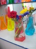 plastic pvc decoration vase print