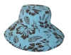 baby's bucket hat with red winkle edge