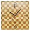YBB-W003 Square Office Decorative Design Bamboo Quartz Analog Wall Clock