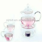 handmade glass teapot sets
