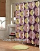 100%polyester printed bathroom printed shower curtain