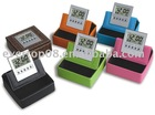 Digital LCD Leather Clock with ODM colorful design