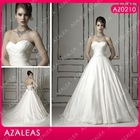AZ0210 Sweetheart floor length Self flower A line evening dress
