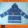 Military Reflective Safety Warm Raincoat