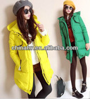 zc10078 Korean Casual Loose Style Winter Hooded Ladies Thick Warm Long Duck Down Jackets