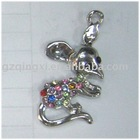 Mouse Diamond charm for cellular phone
