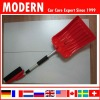 Multi-purpose snow shovel with brush
