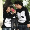 Black color Matching Family fashion Hoodie