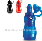 plastic water bottle with compass