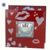 valentine's glass pedestal candle holder