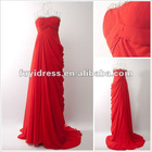 Feminine Off-shoulder Red Long Evening Dress