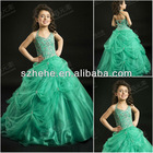 F2415 2013 Exquisite beaded high-end ruffled skirt kids party wear dresses for girls