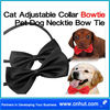 black Cat Adjustable Collar Bowtie Pet Dog Necktie Bow Tie
