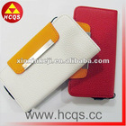 Leather wallet flip stand case for iphone5 case