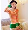 Bar design orange sweater