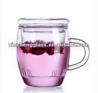 HOT! 350ml handblown borosilicate glass tea cup