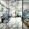 Building glass panel partitions interior